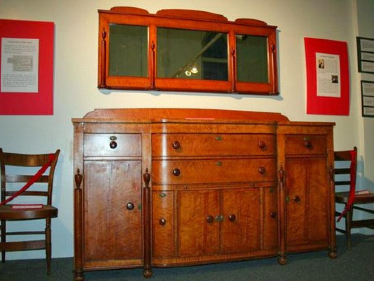 Sheraton Sideboard c. 1820-1840, from the 48 Elm Street estate now on display at the Potsdam Public Museum