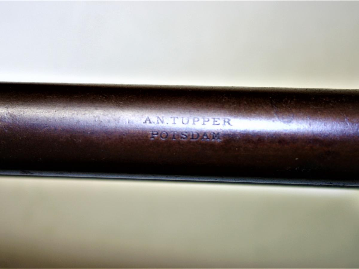 A. N. Tupper's manufacturing mark on rifle barrel in Potsdam Public Museum collection.