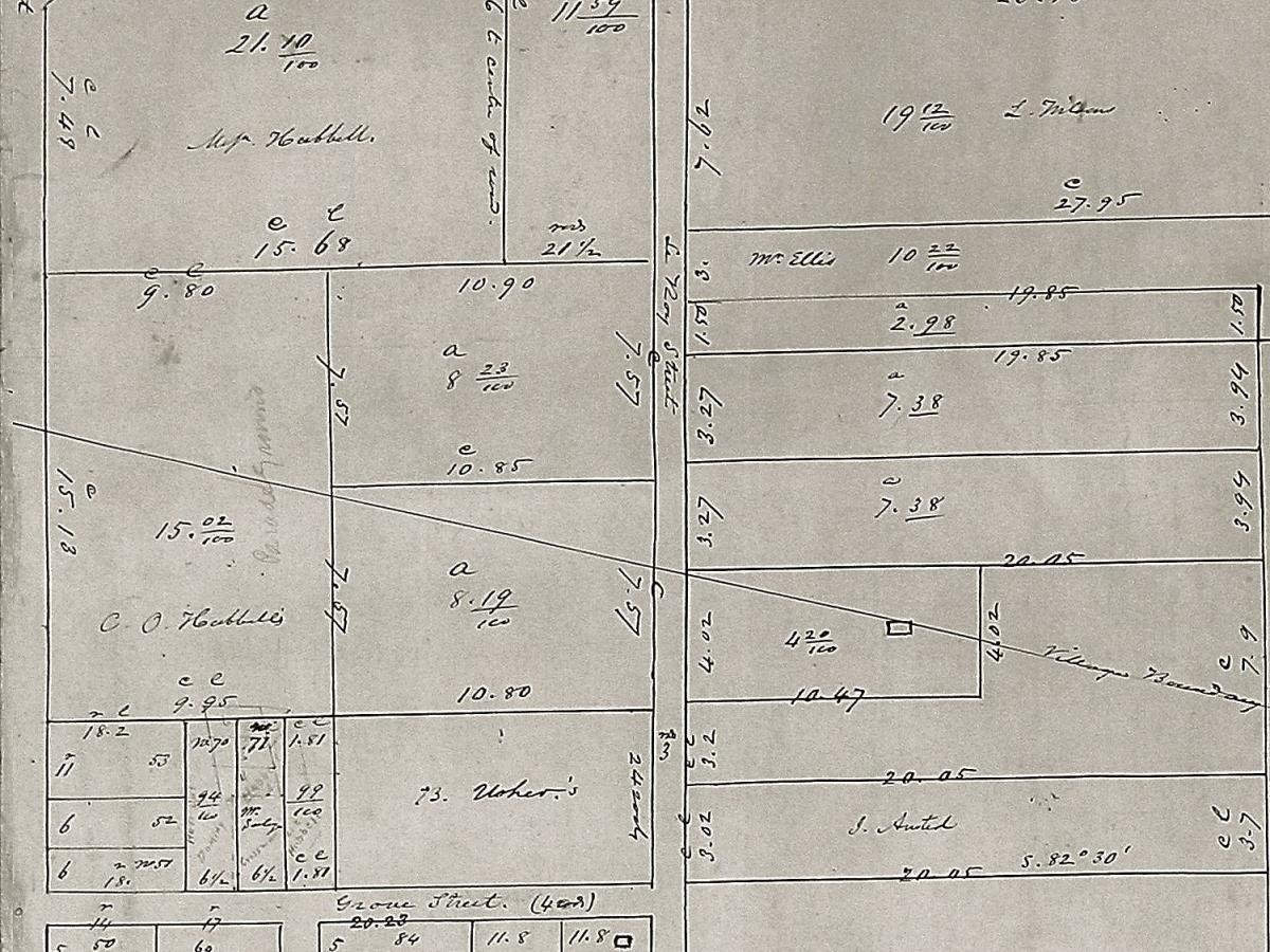 "This 1864 Clarkson Farm and village Lots map of Potsdam shows written in 'pencil'  a faded  ""parade grounds"" just north of Grove Street. This is the first map clue about Camp Union."