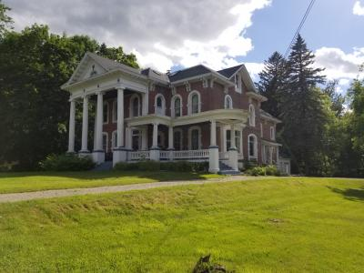 View at an angle of Watkins-Sisson House June 2020