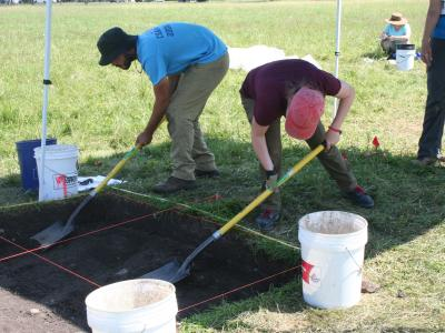 In the summer of 2019, SUNY Potsdam Anthropology Dept. did a dig at the site of Camp Union in Potsdam to see if they could uncover any evidence of the camp.